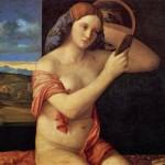 donna nuda allo specchio